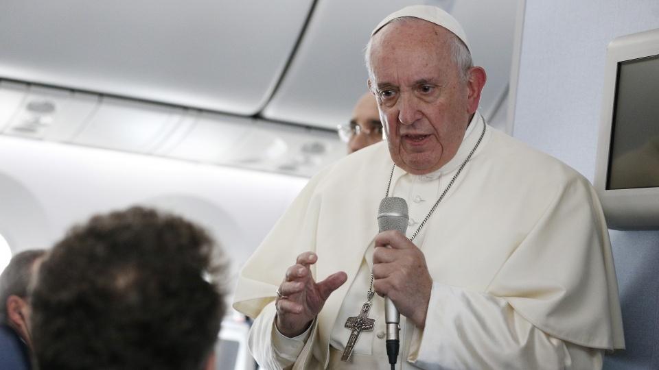 教宗機上記者會論及訪日感受、核武、死刑、戰爭、香港、泰國