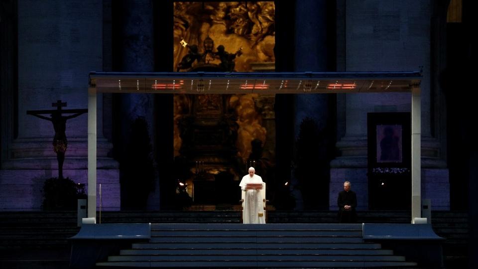 教宗帶領特殊祈禱時刻:主,我們恐懼害怕,求祢拯救我們
