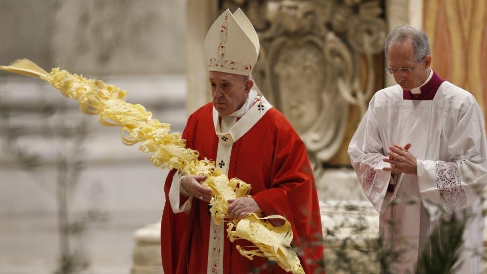 教宗聖枝主日彌撒:疫情的慘況教人學會,生命若不服務,就一無是處