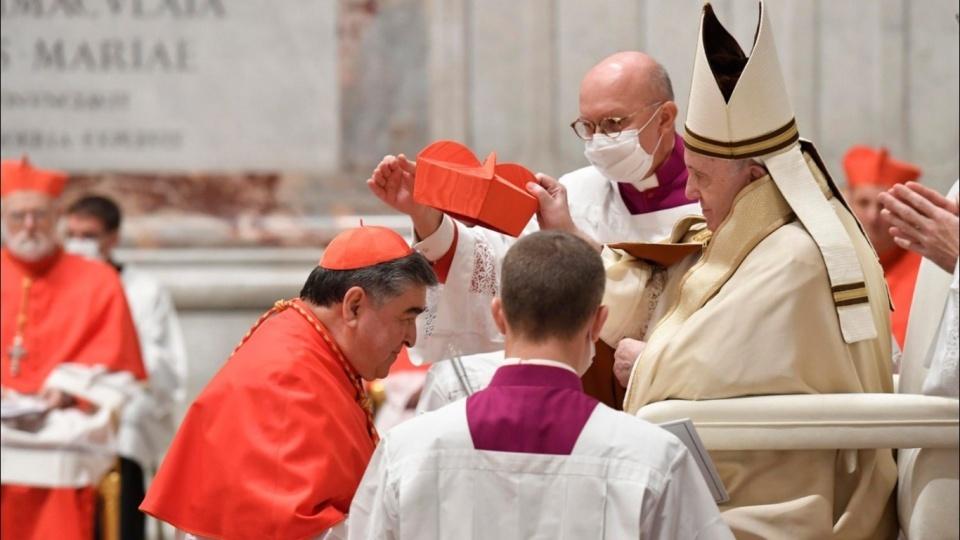 教宗主持擢升樞機禮儀:十字架和世俗是兩條不可調和的道路