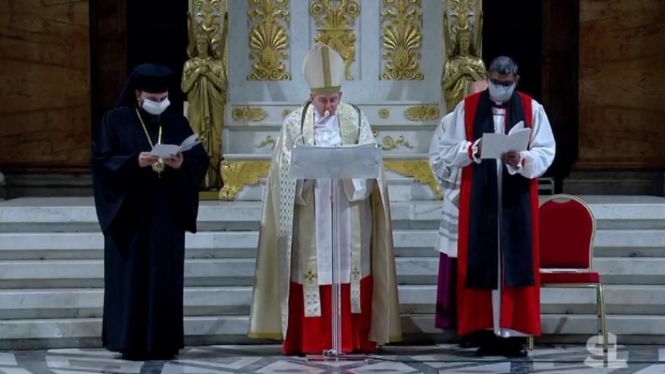 第54屆基督徒合一祈禱週閉幕晚禱的教宗講道