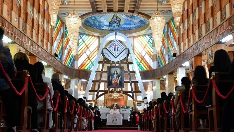 教宗在巴格達會晤該國的主教、司鐸、會士、修生和要理教員