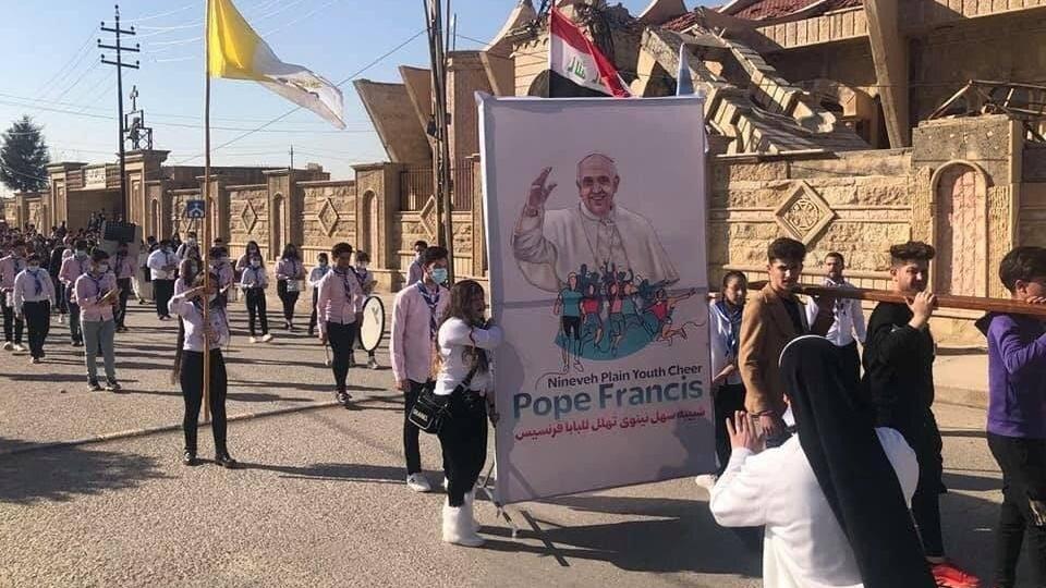 教宗方濟各出發前向伊拉克人民發表了視頻訊息