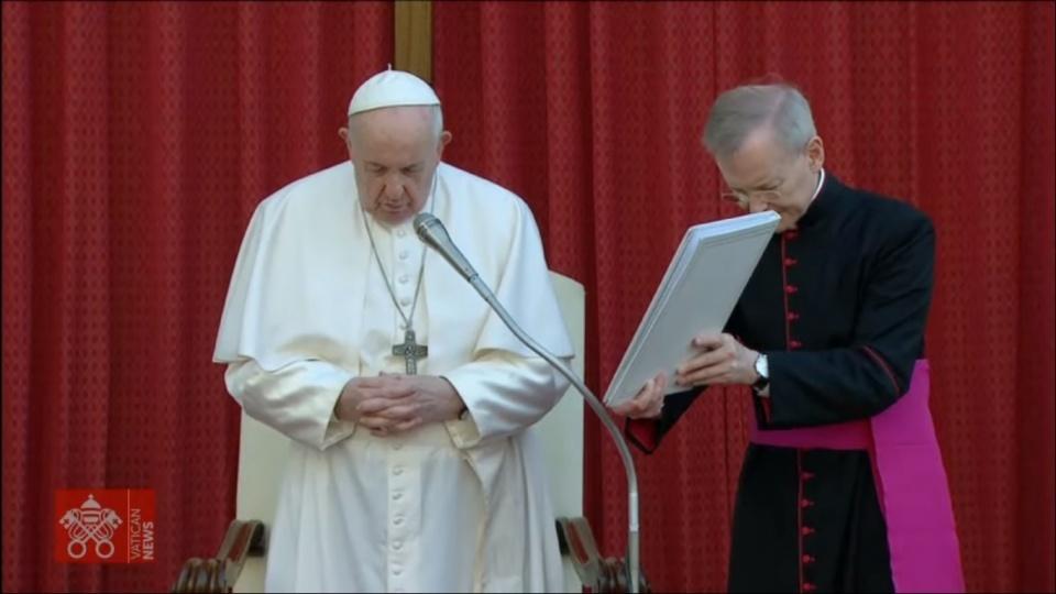 教宗公開接見:耶穌在十字架上為我們祈禱