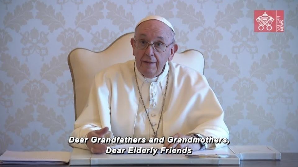 教宗告訴年長者:上主打發天使來安慰處於孤獨的我們
