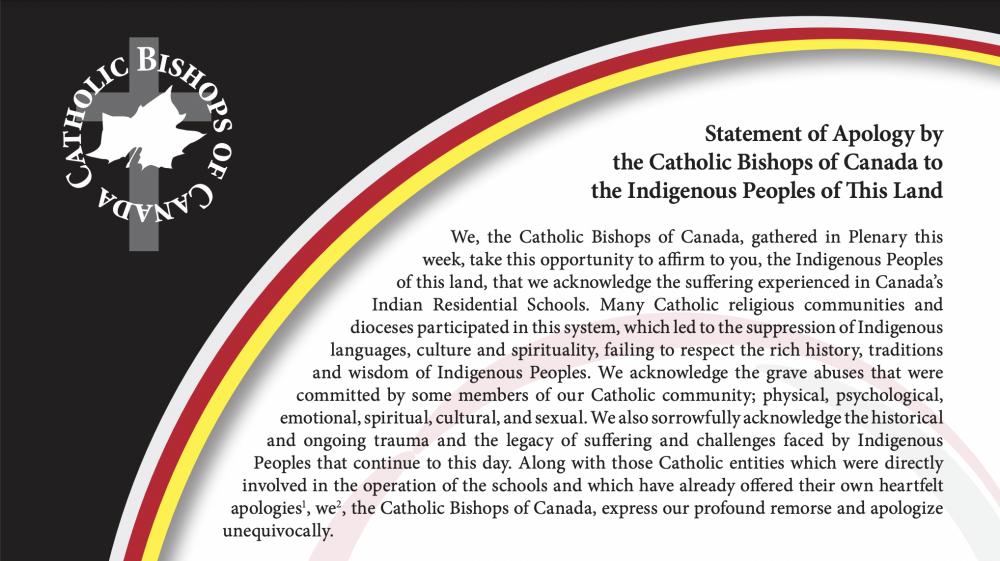 加拿大天主教主教團致加國原住民道歉聲明