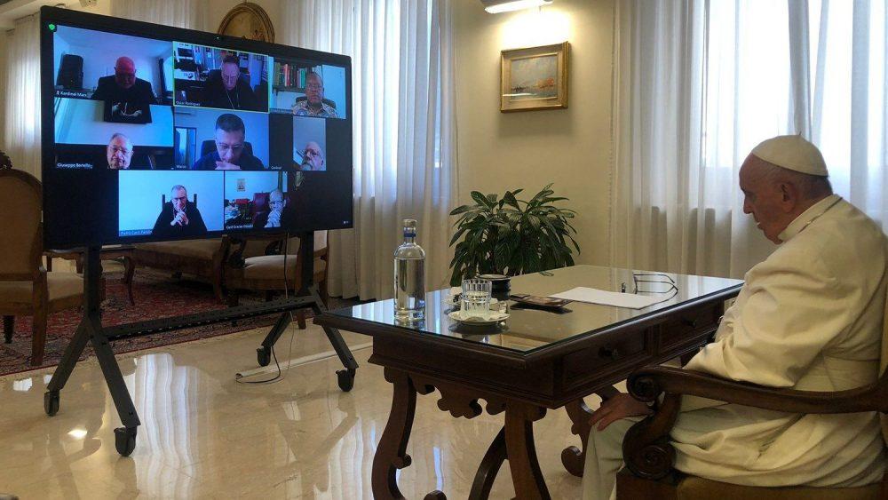 教宗出席樞機諮議會線上會議,著重反思下屆世界主教會議