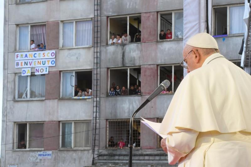 教宗探訪斯洛伐克科希策的羅姆人團體