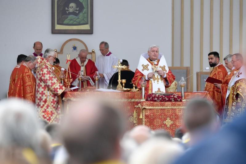 教宗方濟各在斯洛伐克主持神聖禮儀