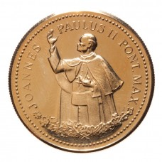 Canada 1984 - 1984 Papal Visit Gold Plated Commemorative
