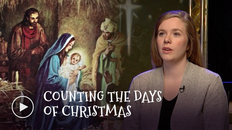 Counting the days of Christmas - watch now button
