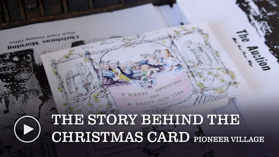 The story behind the Christmas Card - watch now button