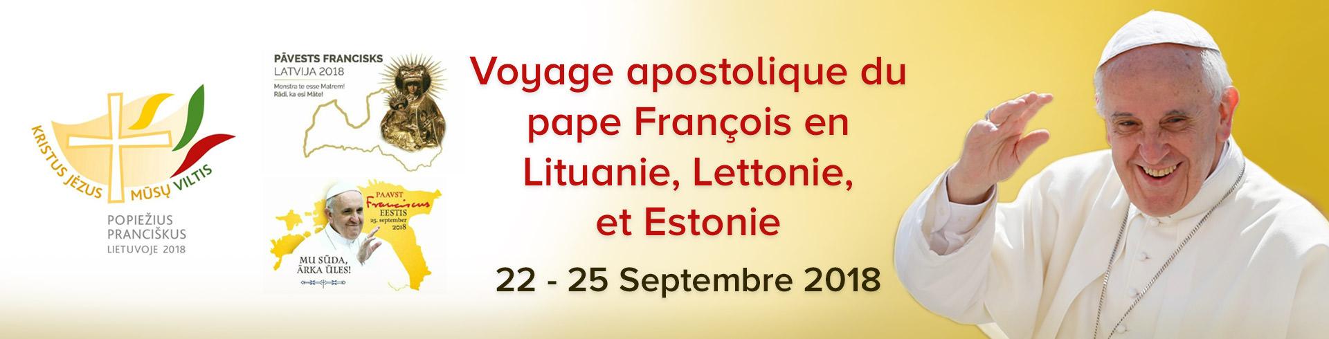 Voyage apostolique du pape François en Lituanie, Lettonie, et Estonie