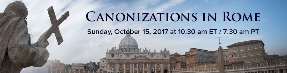 Canonization Oct 2017