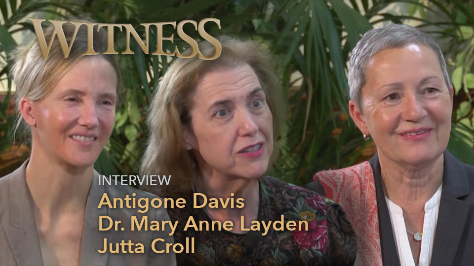 Antigone Davis, Dr. Mary Anne Layden, and Jutta Kroll