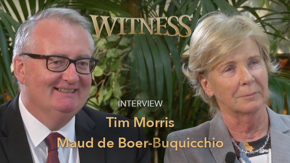 Maud de Boer-Buquicchio and Tim Morris
